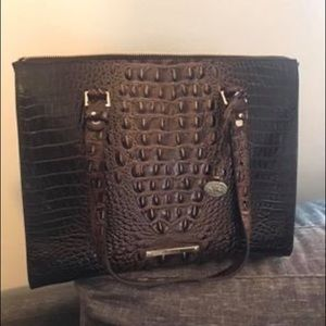 Brahmin brown leather handbag